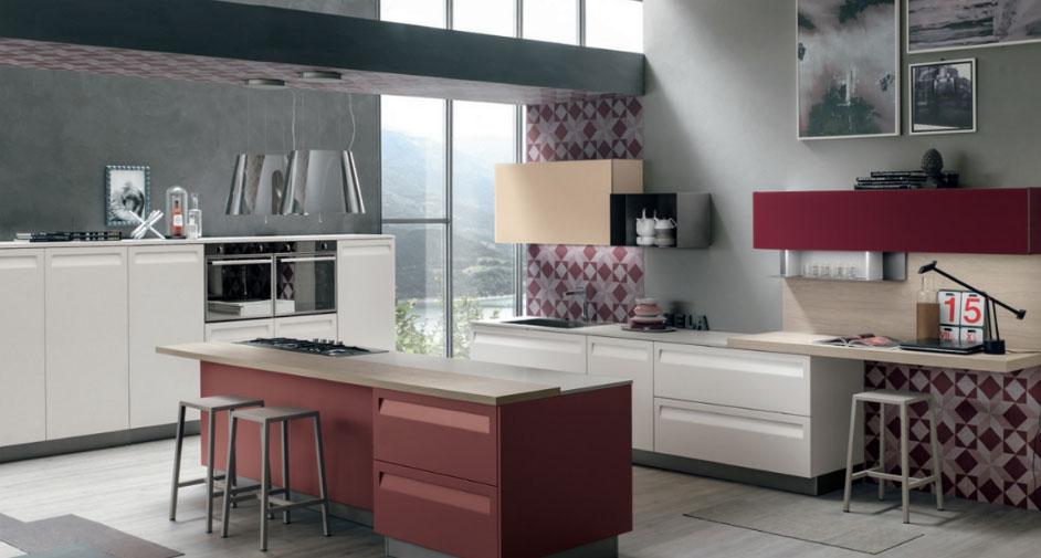 Cucina a vista cinque soluzioni d\'arredo - Stosa, Berloni e Pensarecasa